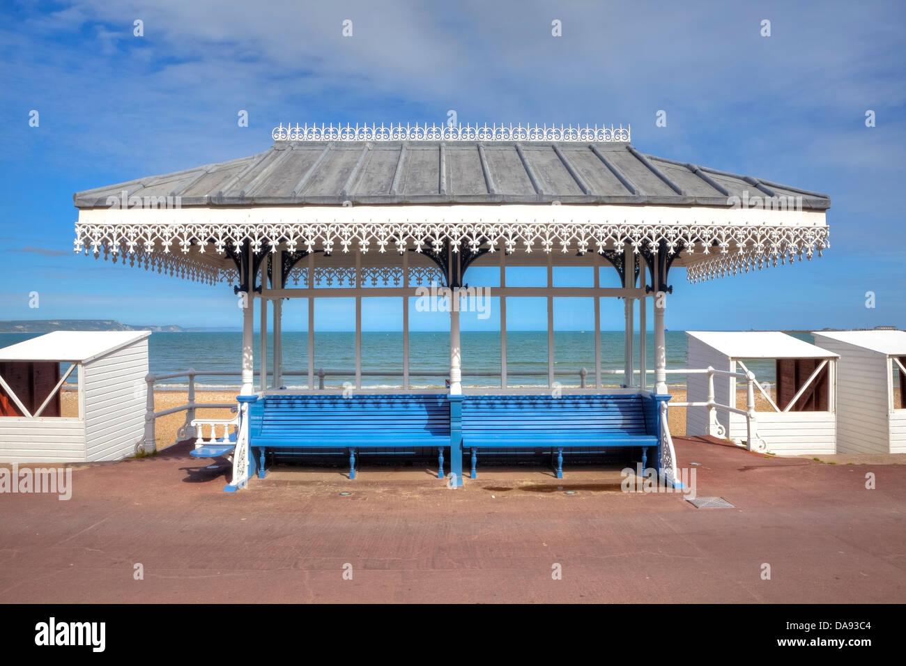 victorian shelter, Weymouth, United Kingdom - Stock Image