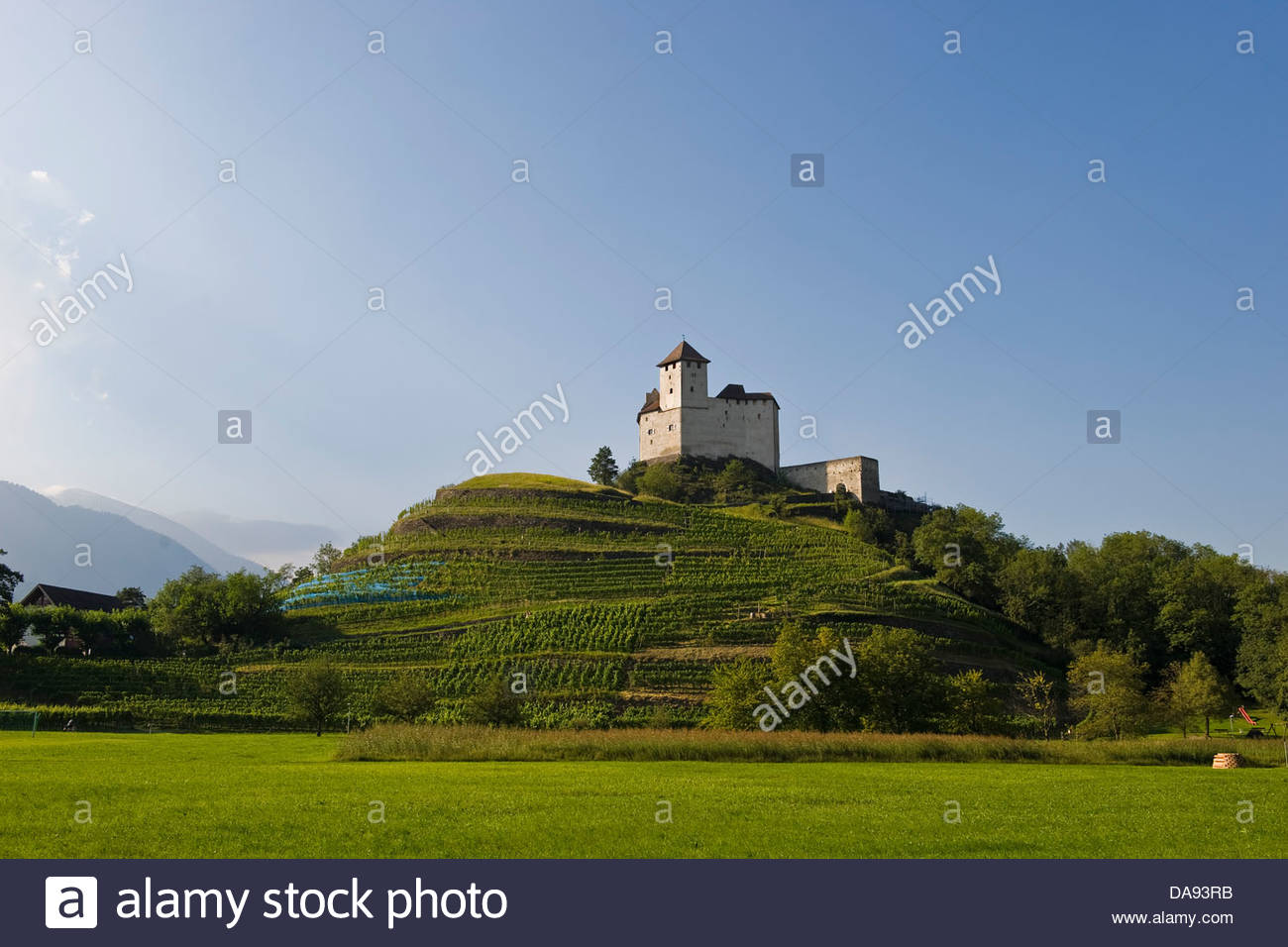 Liechtenstein,Balzers,Gutenburg Castle Stock Photo