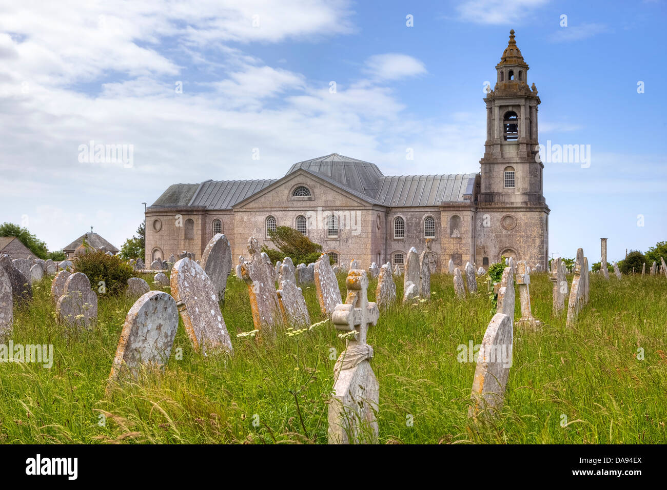 St George's Church, Portland, Dorset, United Kingdom - Stock Image