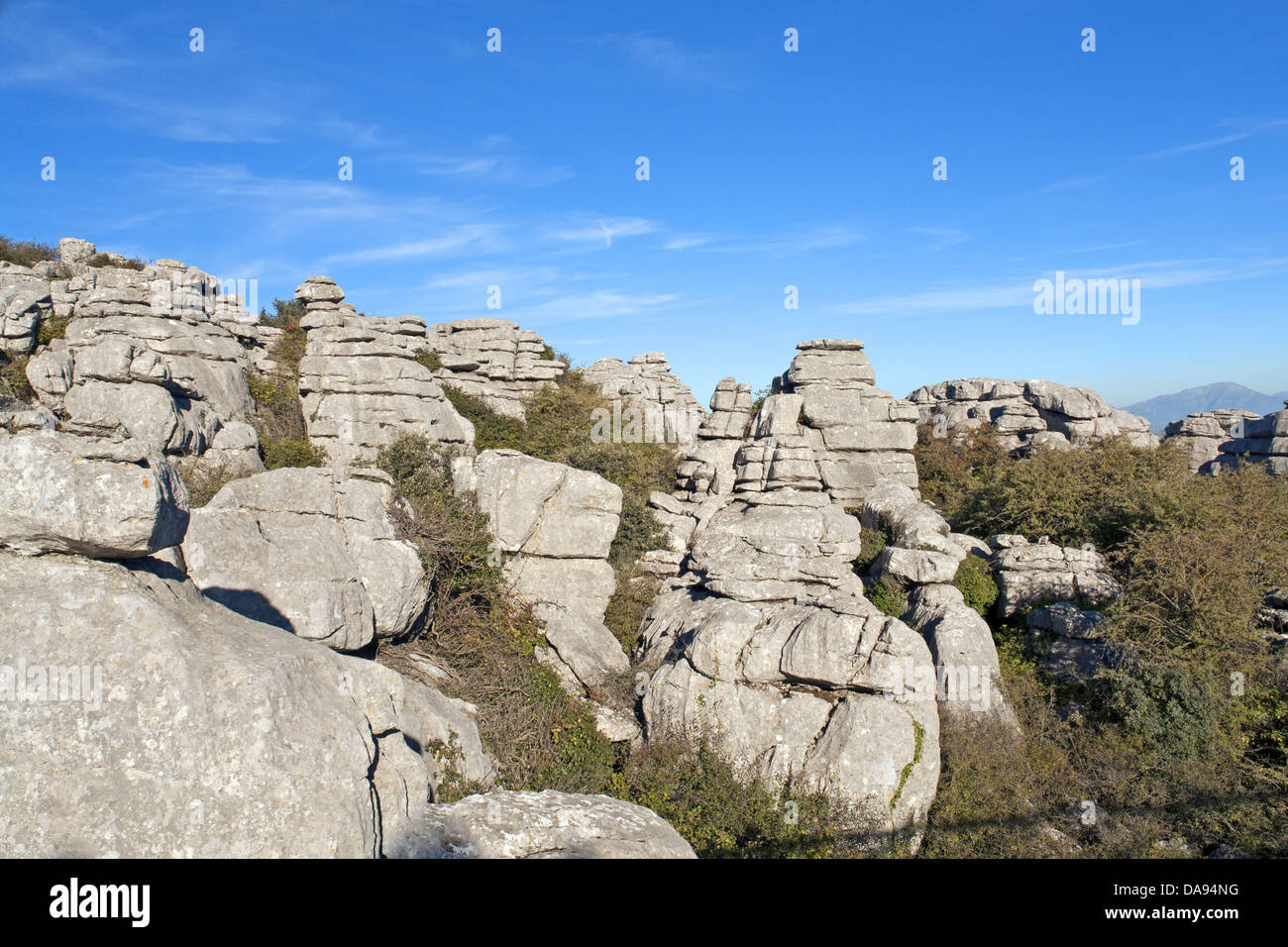 Ventanillas, cliff formations, tourism, spectacle of nature, rock, cliff, mountains, scenery, trees, plants, Europe, - Stock Image