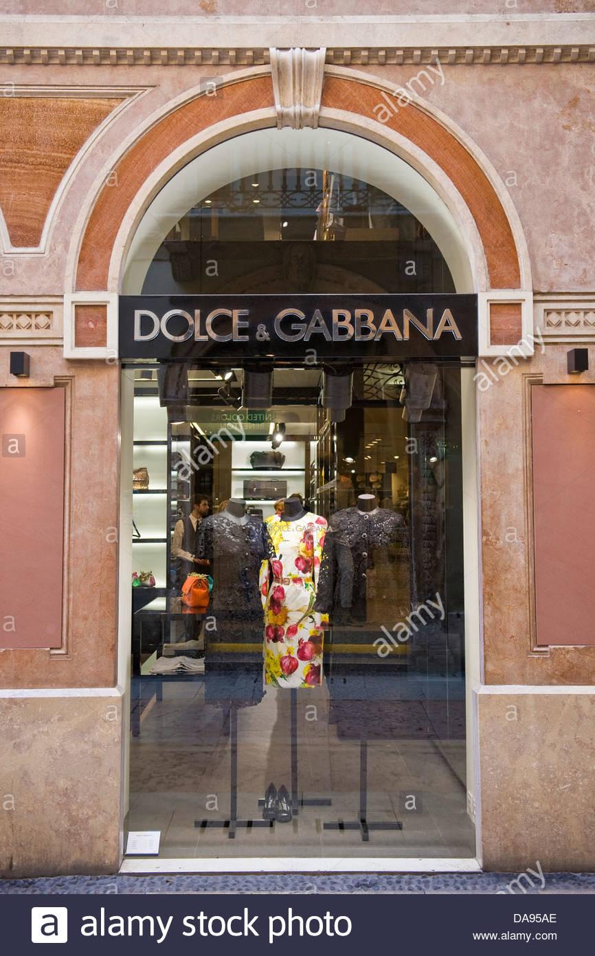 Dolce e Gabbana shop,Verona,Veneto,Italy - Stock Image