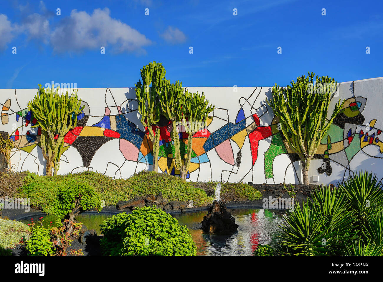 Spain, Europe, Canary Islands, Foundation, Lanzarote, architecture, art, artist, Cesar manrique, colourful, exotic, - Stock Image