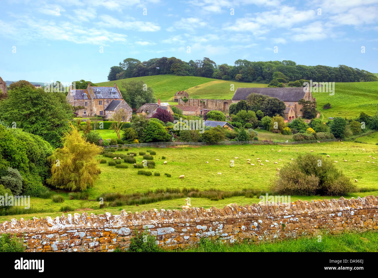 Abbotsbury Abbey, barn, Dorset, United Kingdom - Stock Image