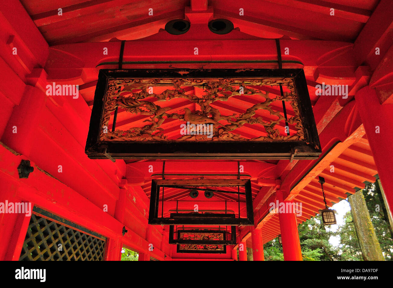 Asia, Hakone, Hakone Jinja, Honshu, Horizontal, Japan, Kanagawa Prefecture, Kanto, Shinto, Shrine - Stock Image