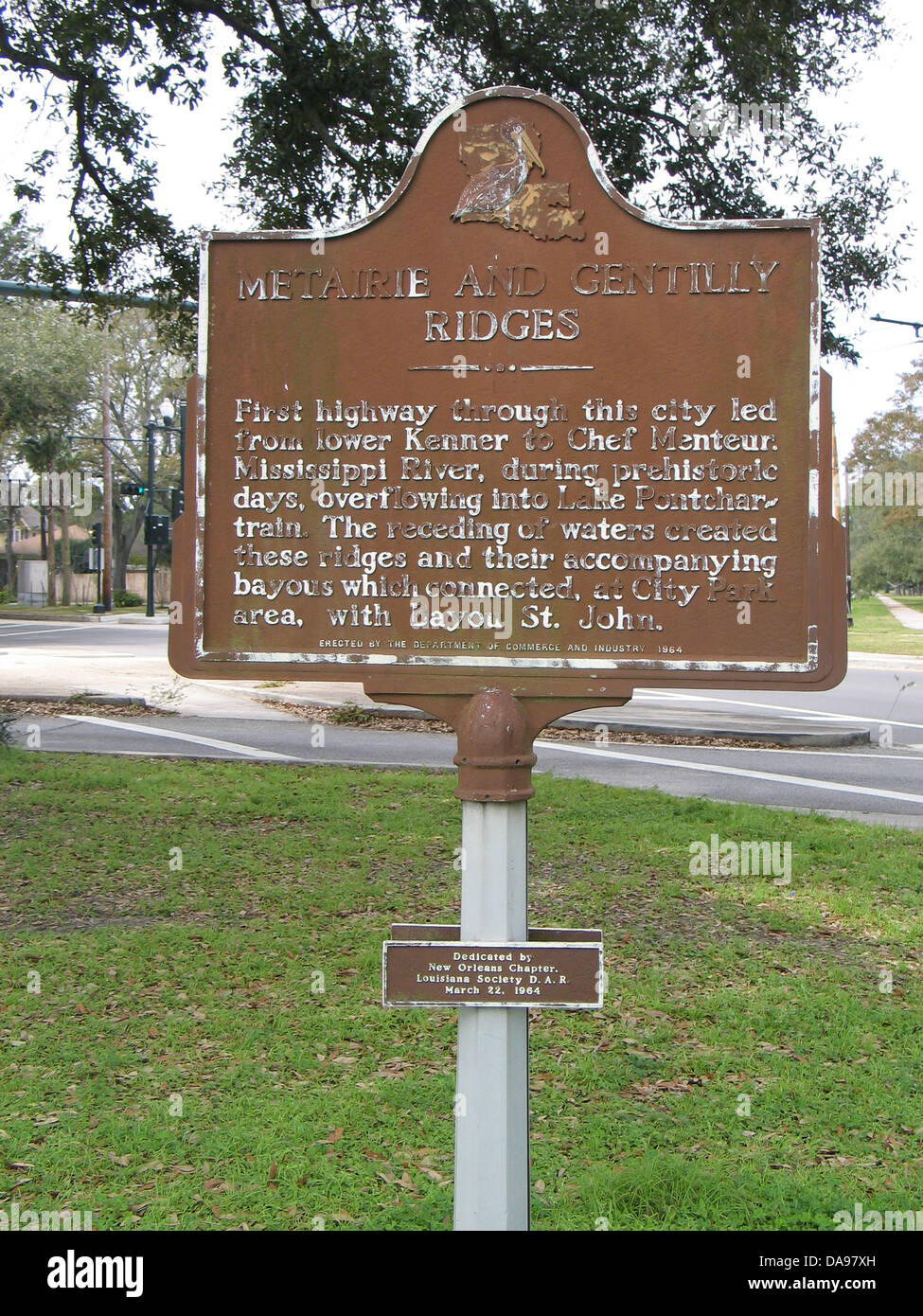 METAIRIE AND GENTILLY RIDGES First highway through this city led from lower Kenner to Chef Menteur, Mississippi - Stock Image