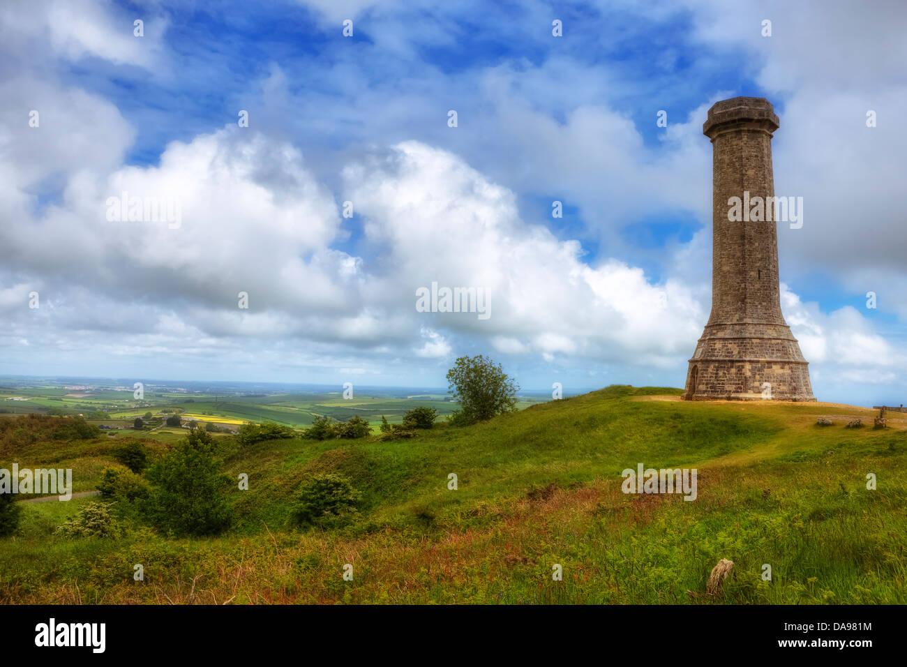 Hardy Monument, Dorset, United Kingdom - Stock Image