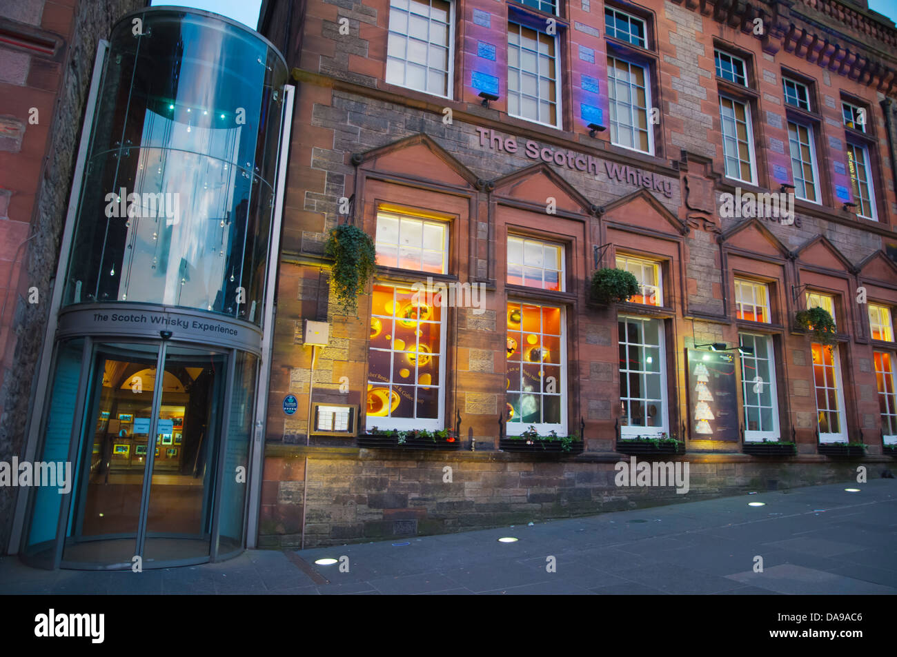 The Scotch Whisky Experience building Castlehill old town Edinburgh Scotland Britain UK Europe - Stock Image