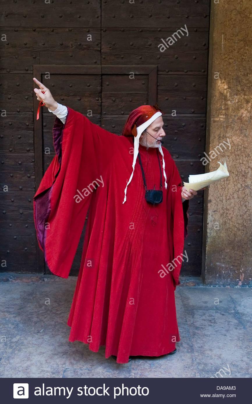 Italy,Veneto,Verona,Dante guide - Stock Image