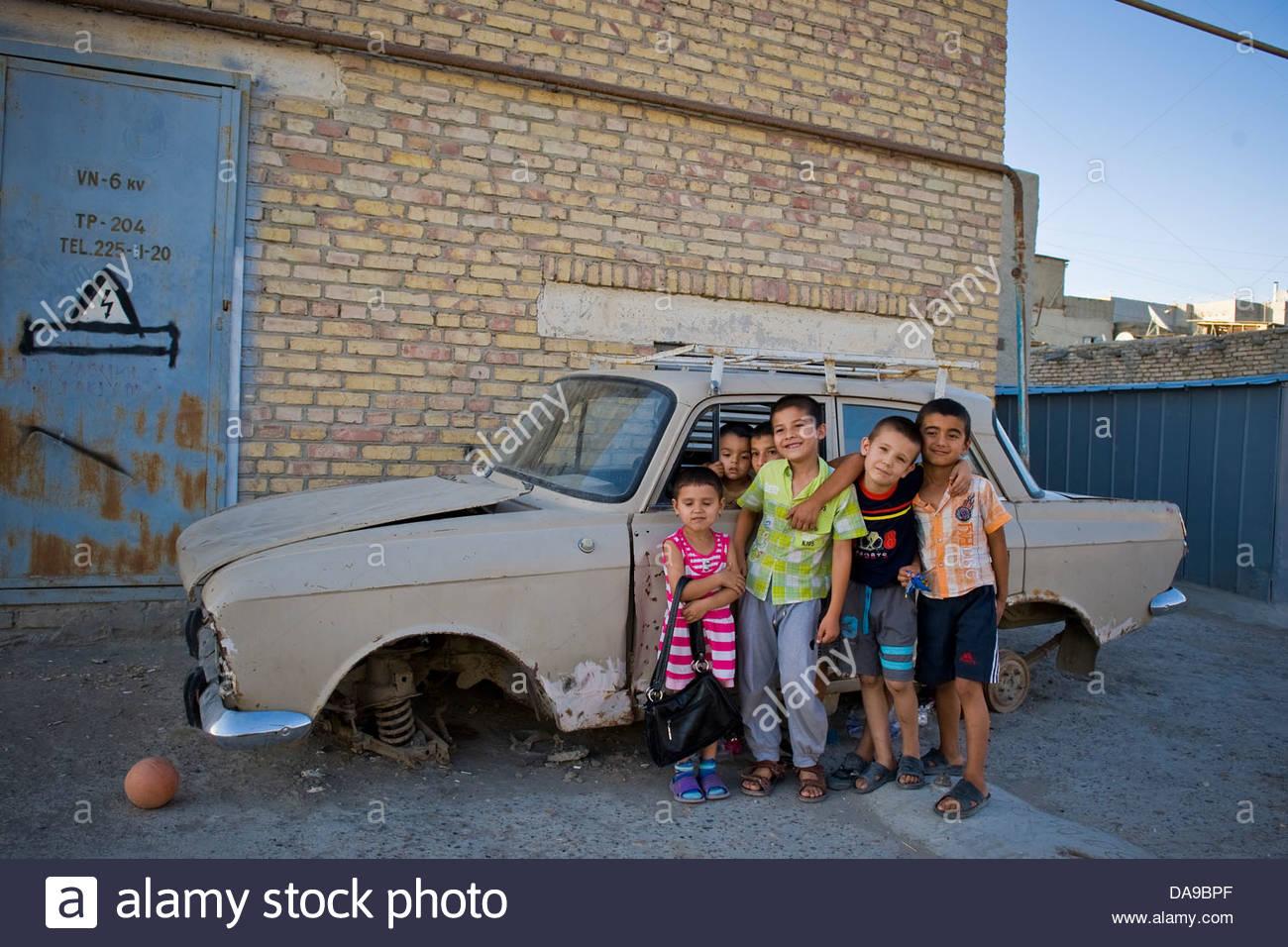 Uzbekistan,Bukhara,children Stock Photo