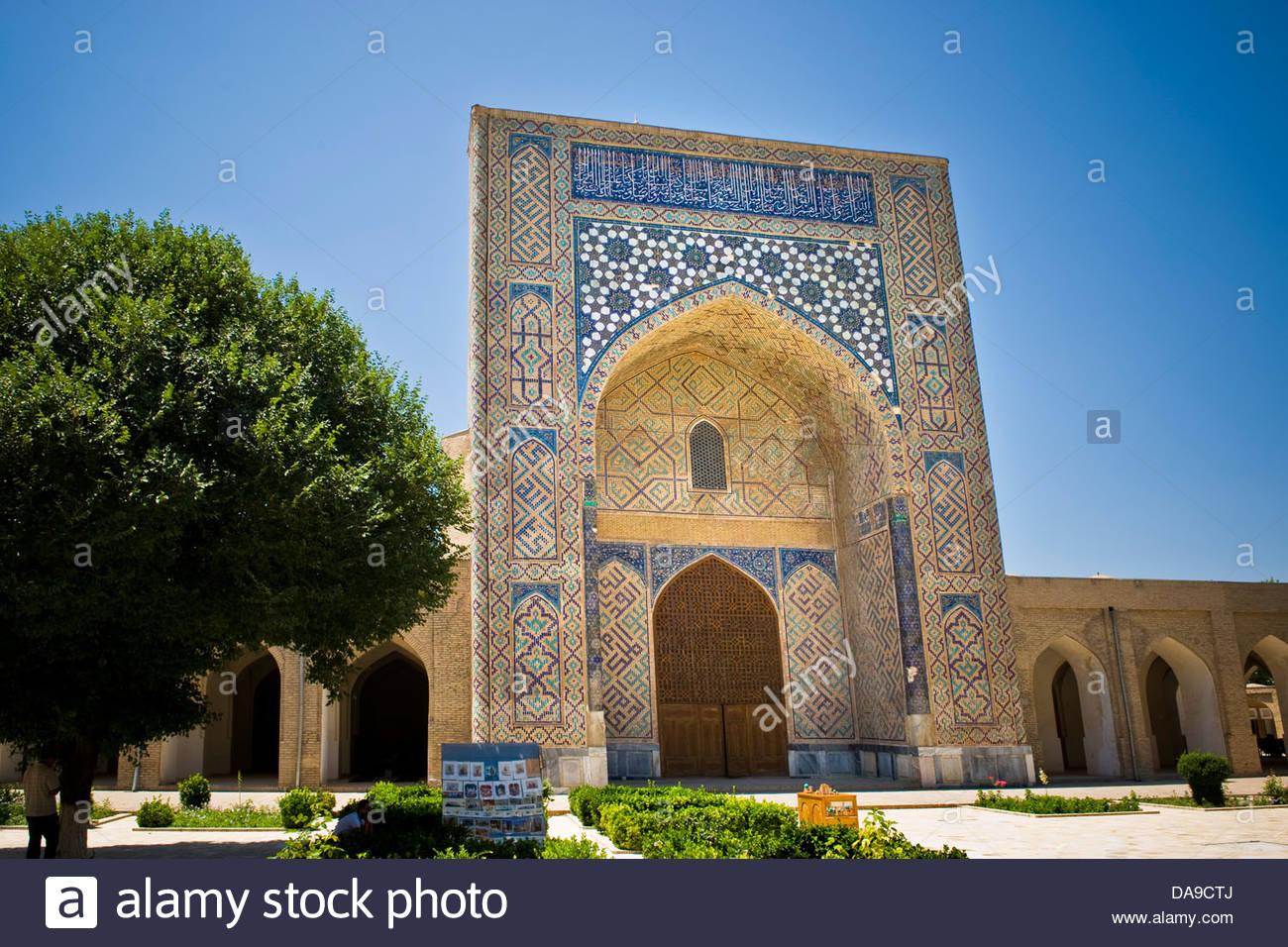 Uzbekistan,Shakhrisabz,Dor Ut Tilovat complex - Stock Image