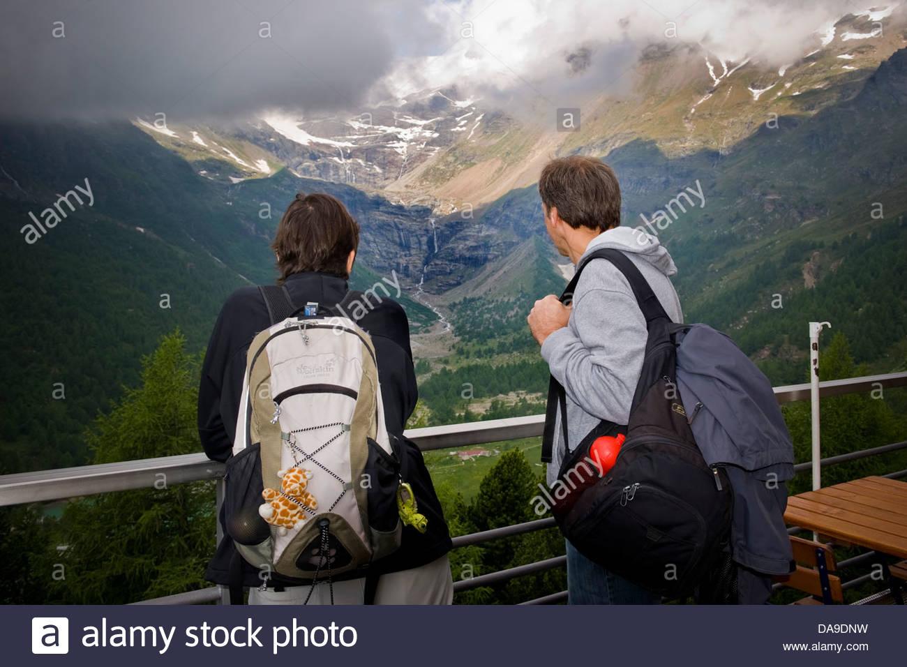 Switzerland,Canton Grisons,Bernina express,Palu glacier - Stock Image