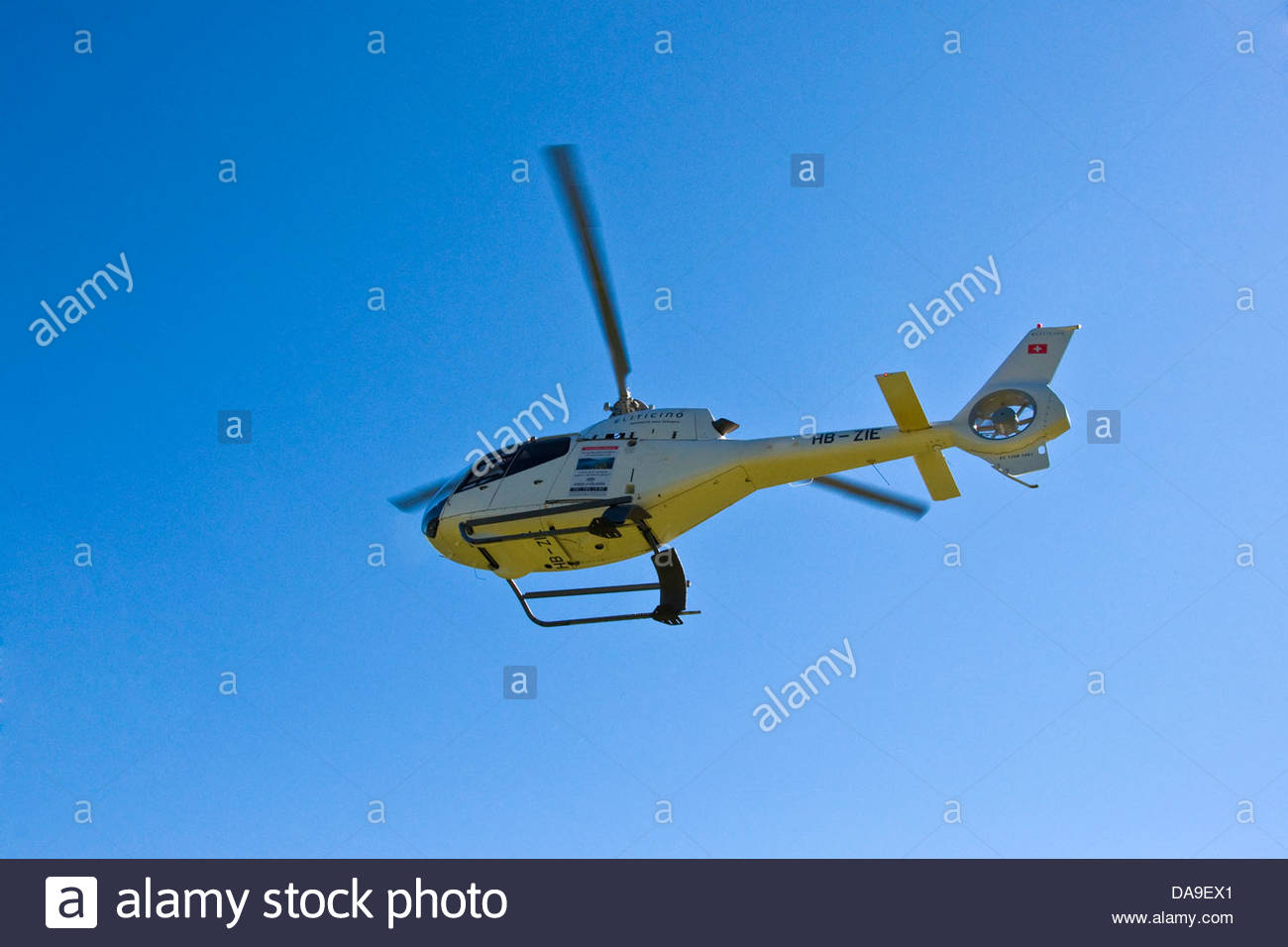 Switzerland,Canton Ticino,helicopter Stock Photo