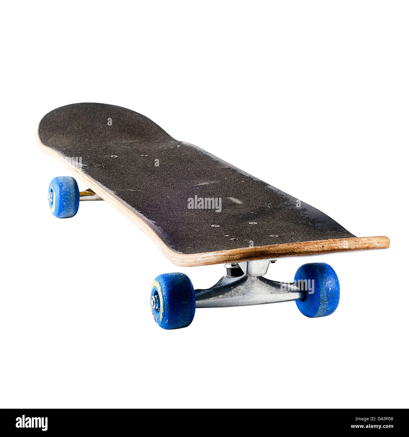 8ce739aea0 Well used and weathered skateboard isolated on white with a with a clipping  path