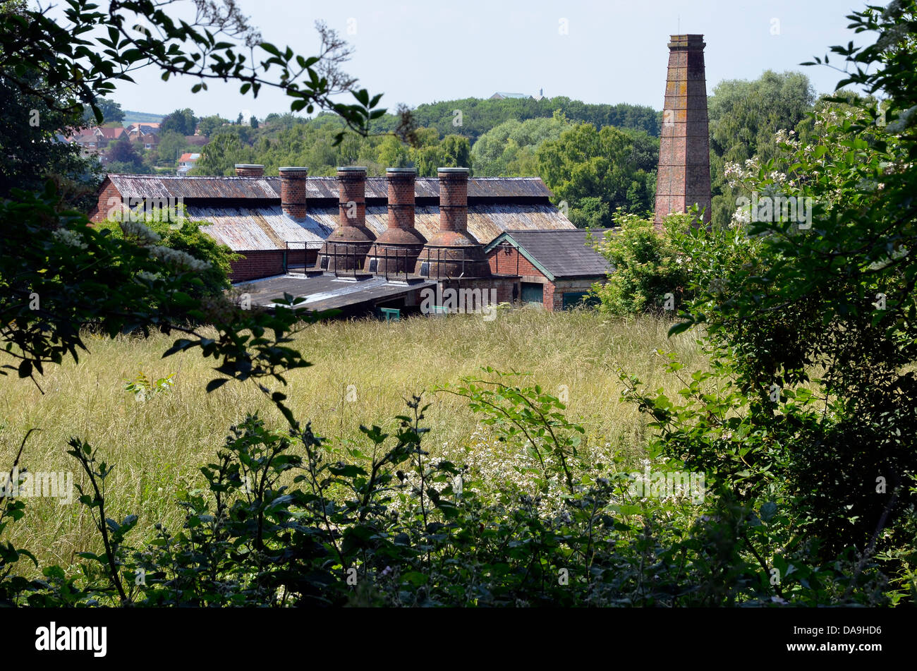 Twyford Water Works, a preserved Edwardian pumping station in Hampshire - Stock Image