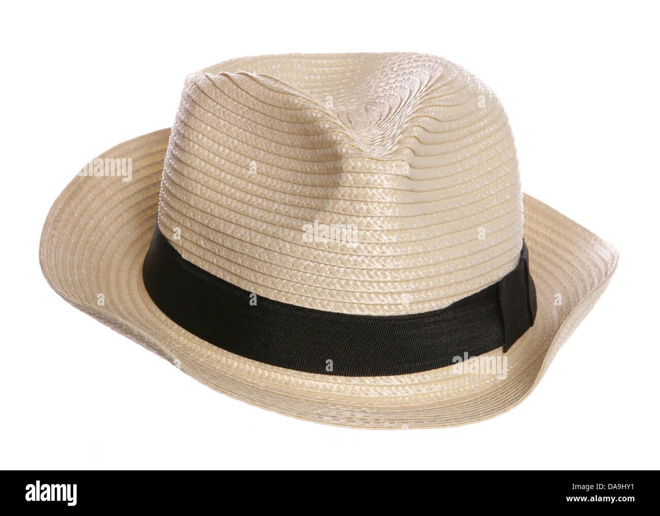 posh old mans hat studio cutout - Stock Image