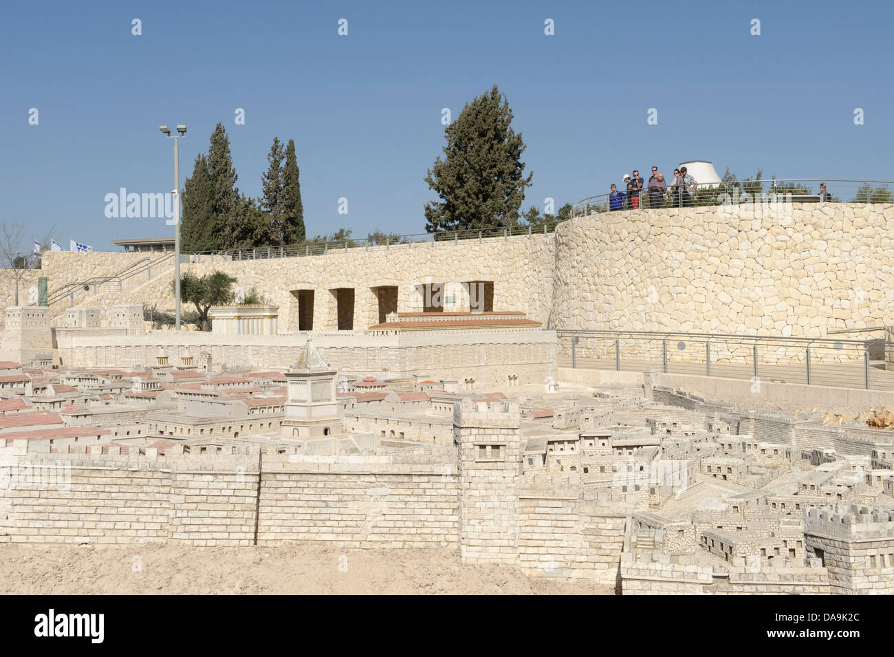 Israel, Israel museum, Jerusalem, model, copy, reproduction, Middle East, Near East, miniature, town, city, Stock Photo