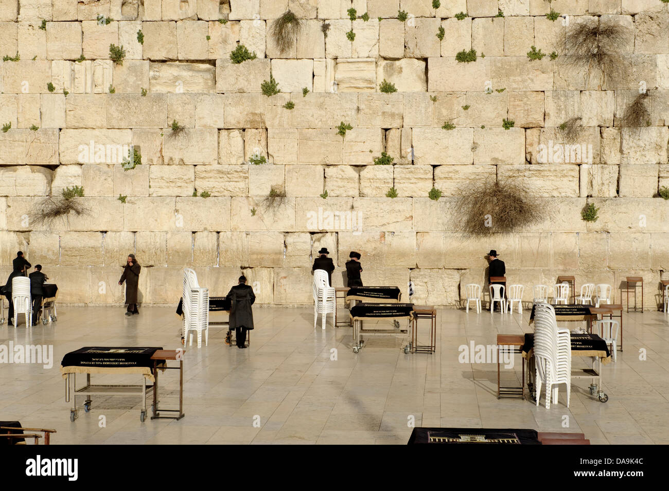 Old Town, Israel, Jerusalem, Wailing Wall, Middle East, Near East, Jew, Jewish, religion - Stock Image