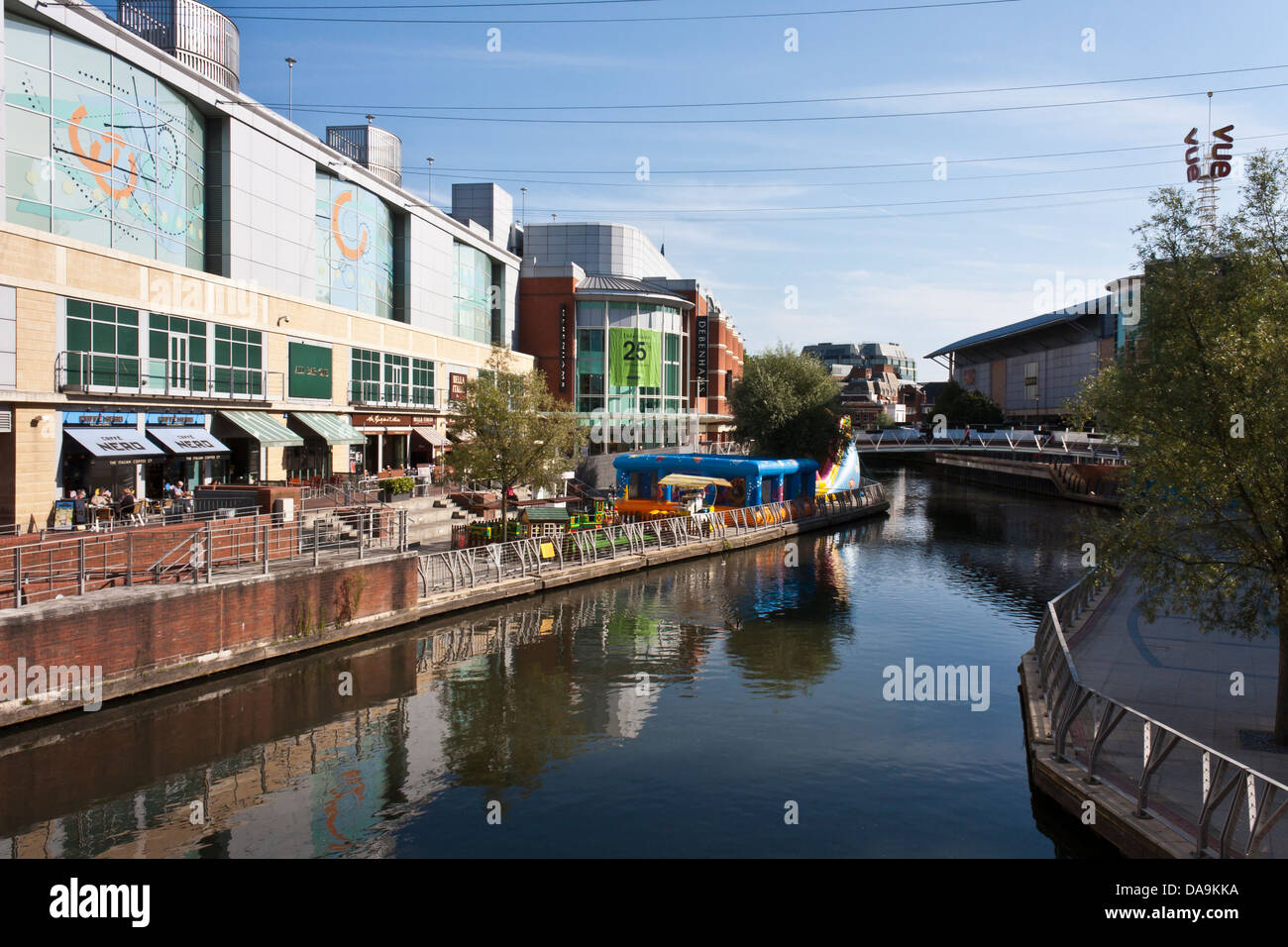 The Oracle shopping centre in the town of Reading, Berkshire, England, GB, UK. - Stock Image