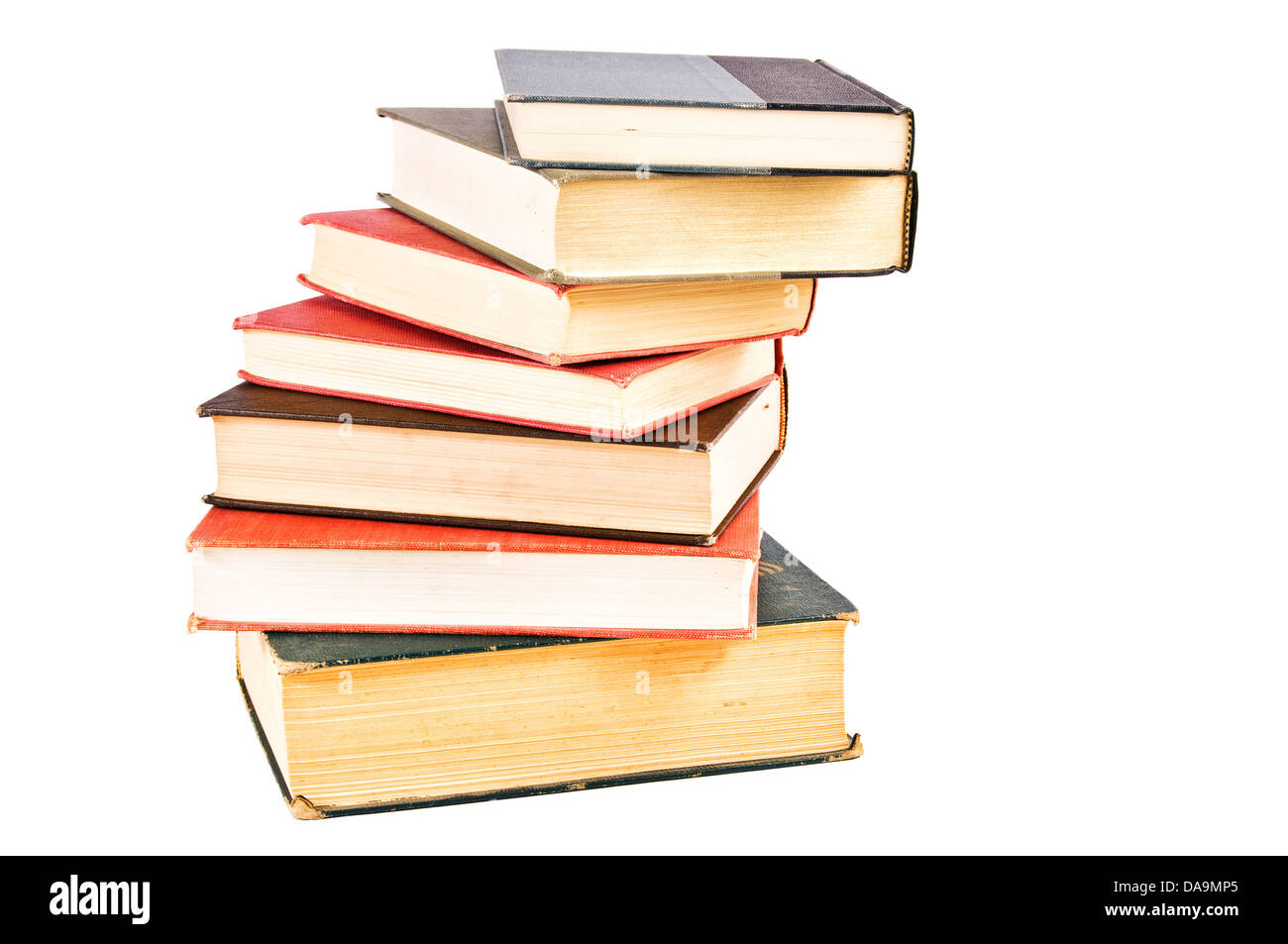 Pile Of Books Forming Spiral Staircase Isolated Clipping Path