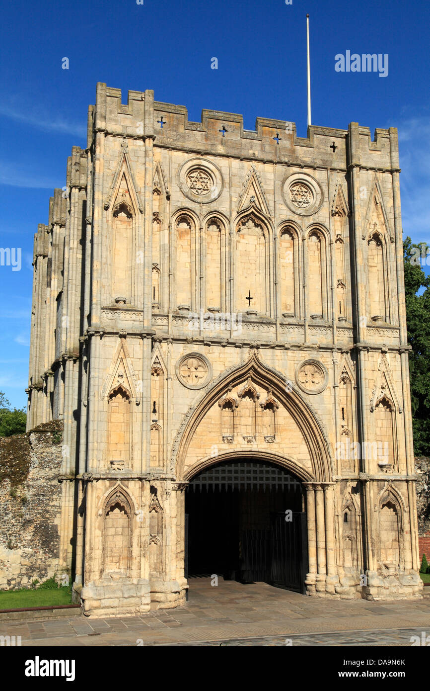 Bury St. Edmunds, Suffolk, the Abbey Gate, medieval architecture, England, UK - Stock Image