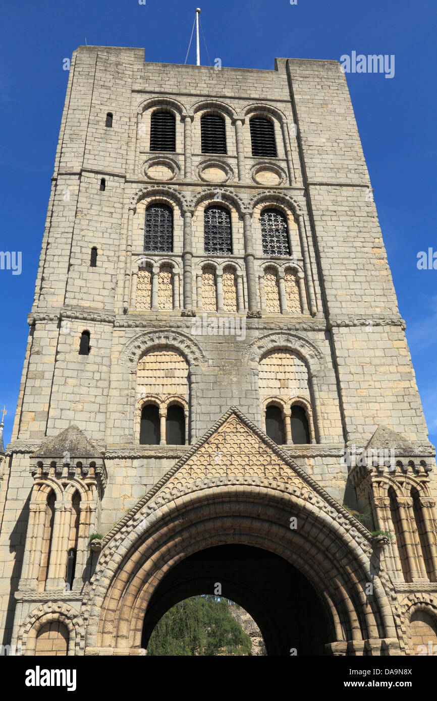 Bury St. Edmunds, the Norman Gate, rower, Suffolk, England UK - Stock Image