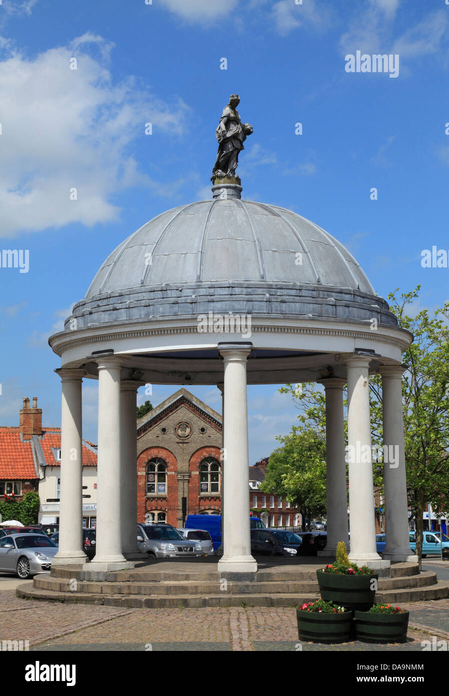 Swaffham, Norfolk, 18th century Market Cross, England UK town towns - Stock Image