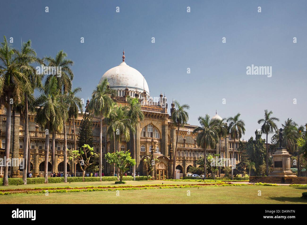 India, South India, Asia, Maharashtra, Mumbai, Bombay, City, Prince of Wales Museum, Prince of Wales, architecture, - Stock Image