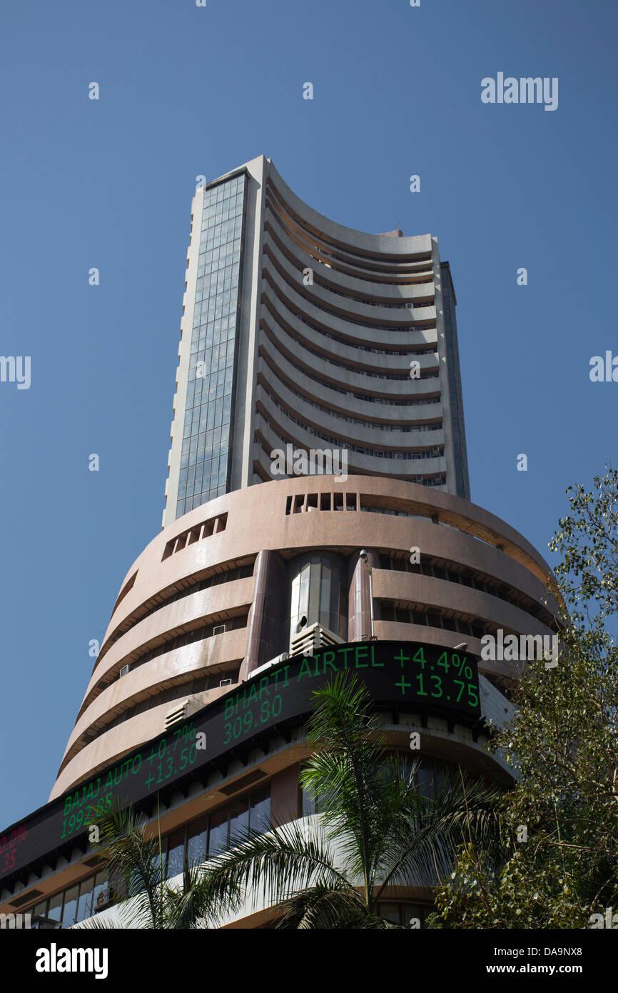 India, South India, Asia, Maharashtra, Mumbai, Bombay, City, Colaba, District, Stock Exchange, Building, business, - Stock Image