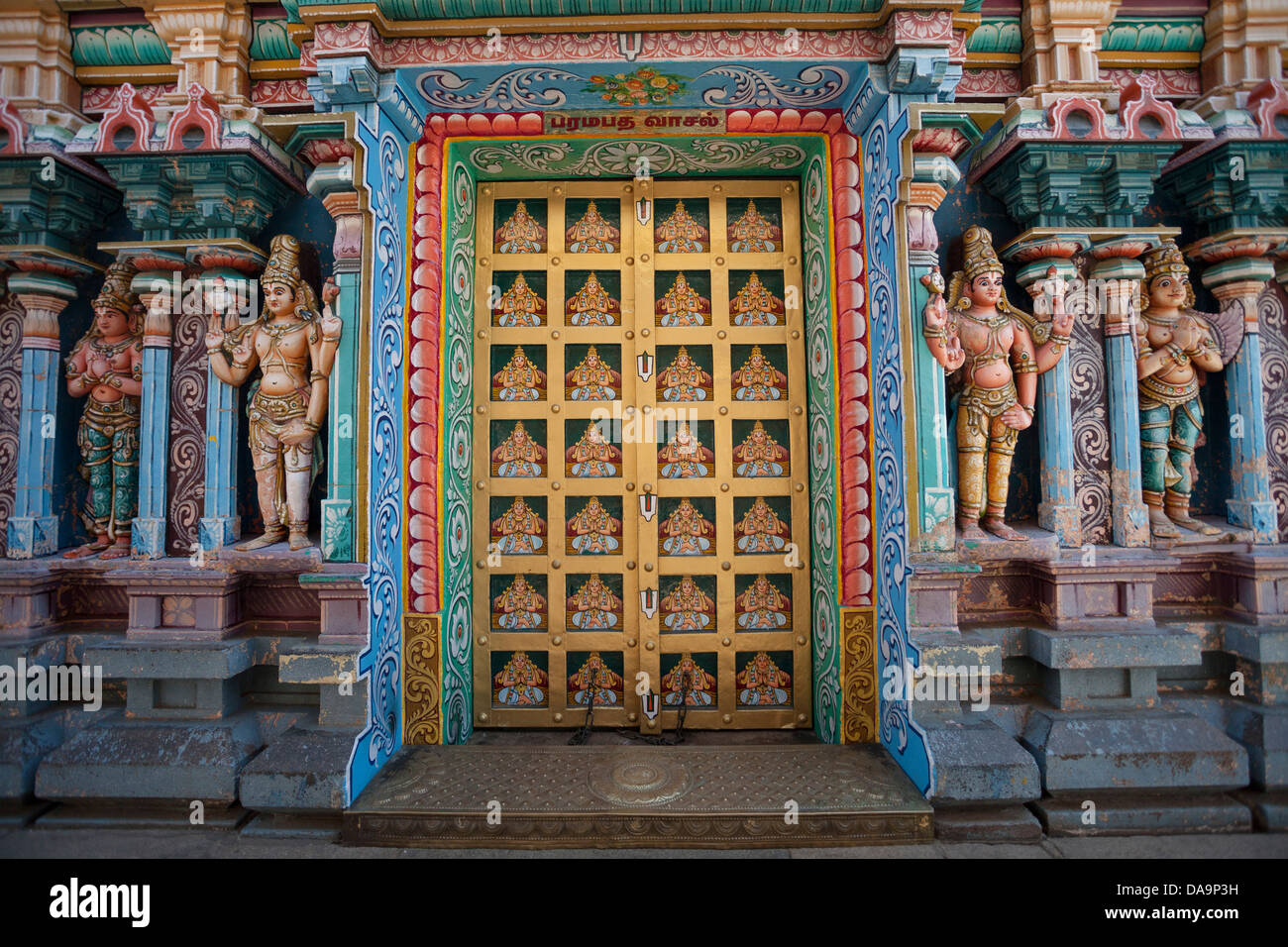 India, South India, Asia, Tamil Nadu, Srirangan, athashwami, Temple, Srirangan, Tiruchirappali, Trinchi, art, colourful, Stock Photo