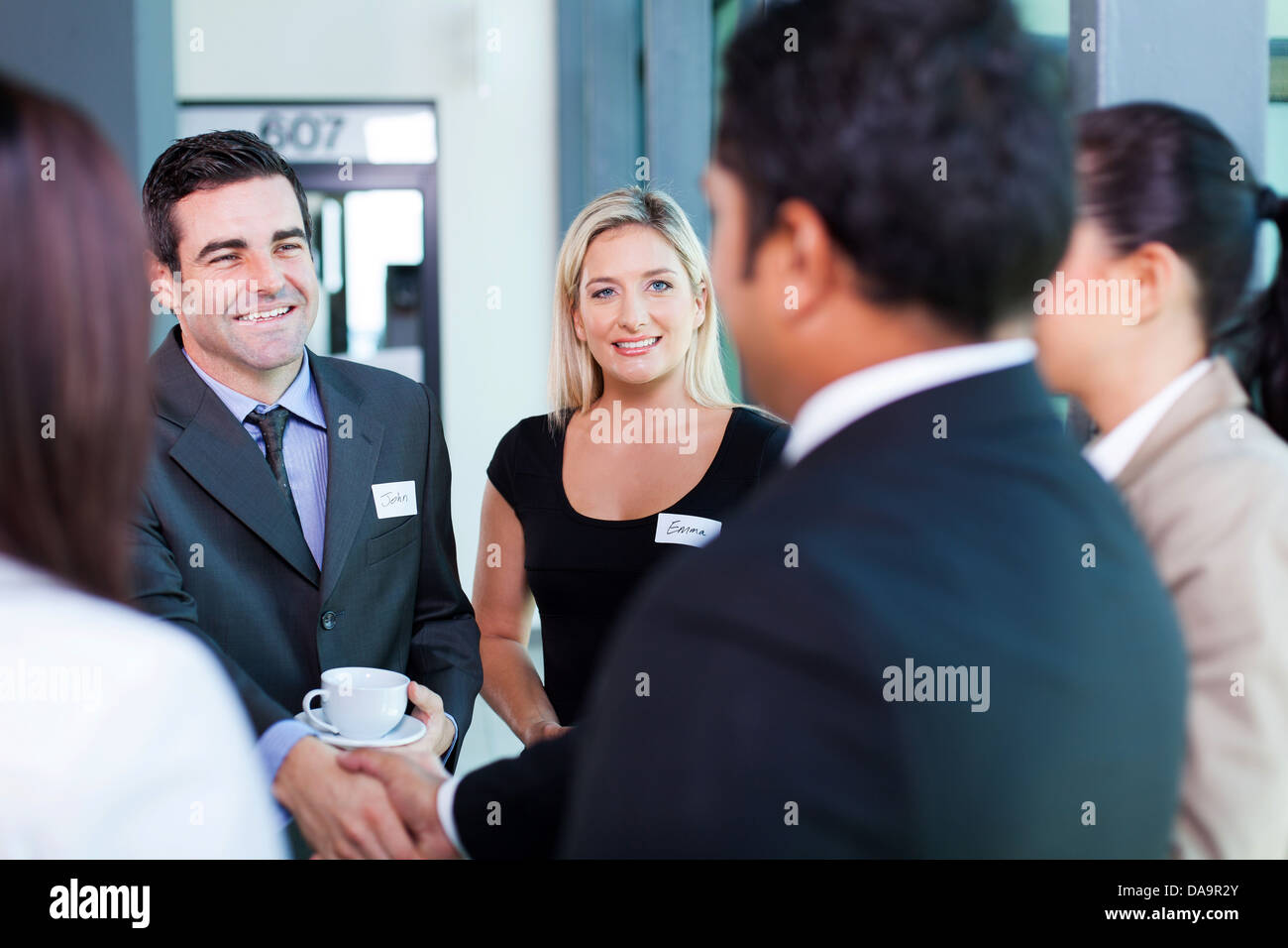 group of business people at business conference - Stock Image