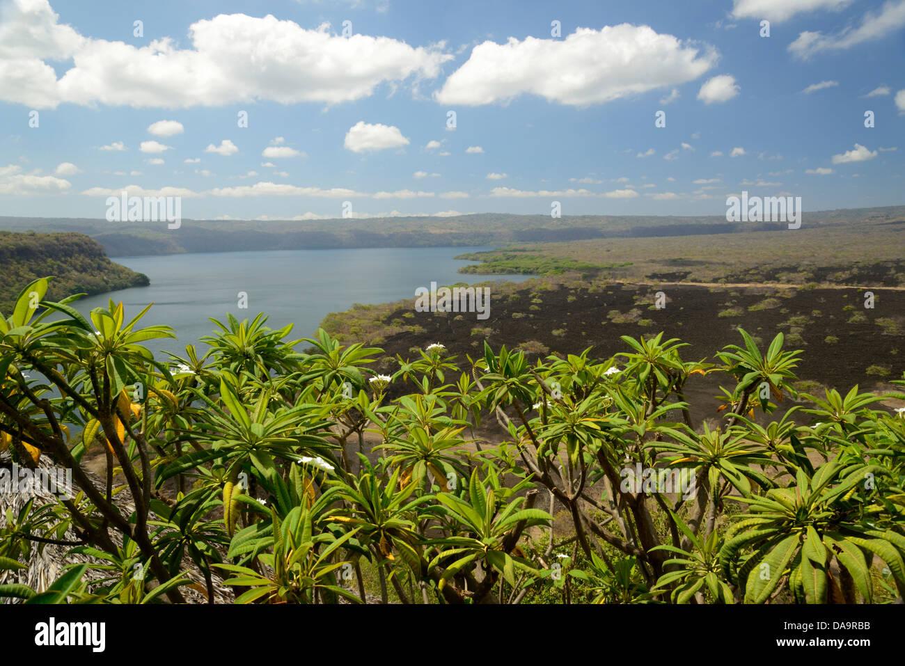 Central America, Nicaragua, Granada, lagune, apoyo, landscape, volcanic, lava, lake, lagune, nature - Stock Image