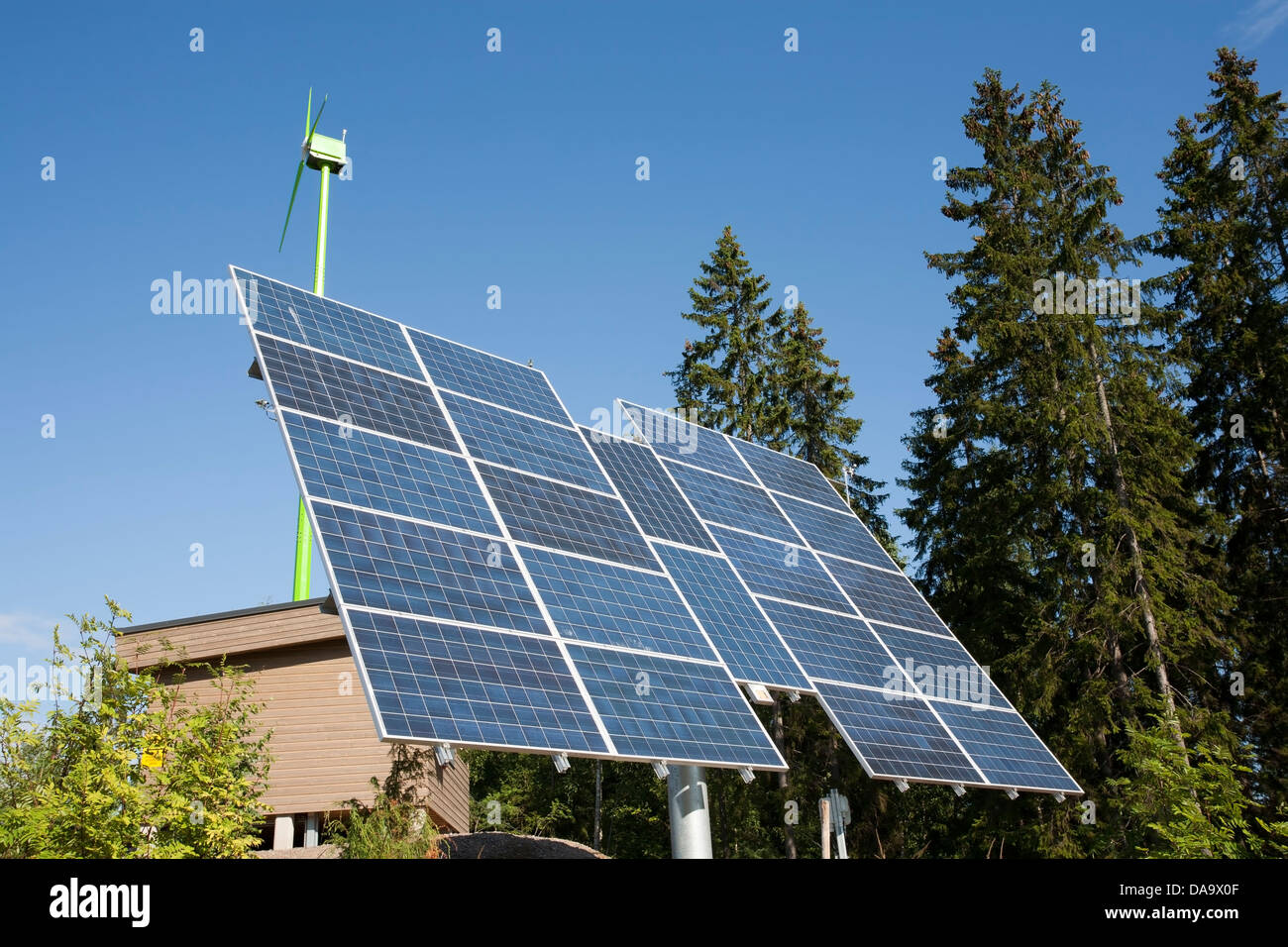 solar panels for electricity production, Lappeenranta Finland - Stock Image