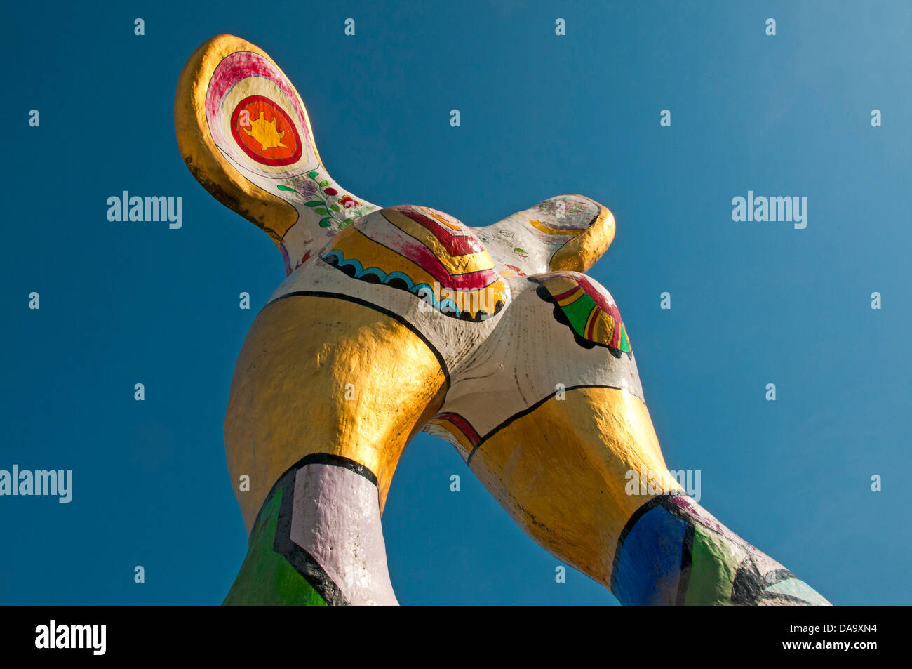 Germany, closer, Europe, muse, Niki de Saint Phalle, sculpture, Ulm, Baden-Wurttemberg, muse - Stock Image