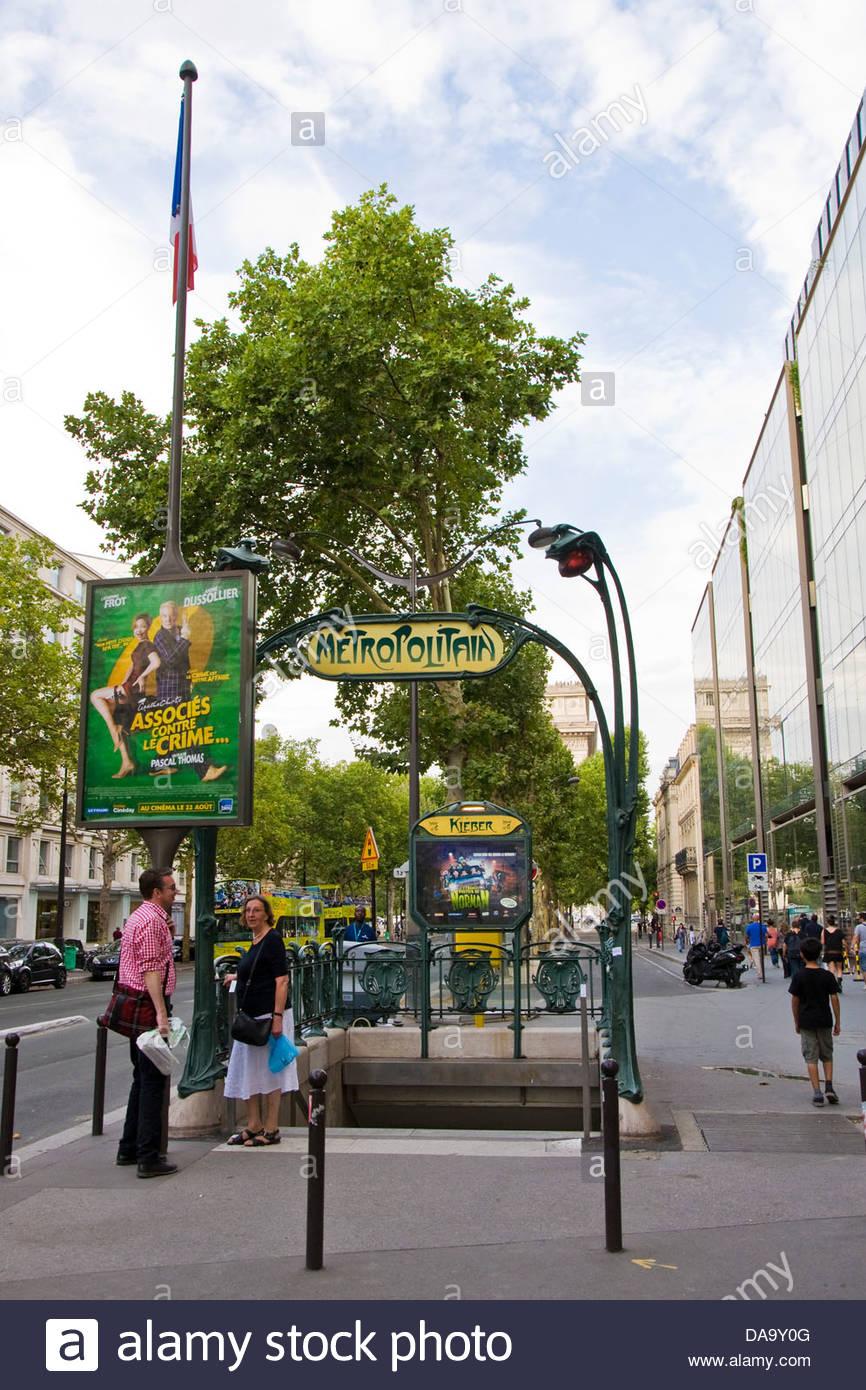 France,Ile de France,Paris,Underground - Stock Image
