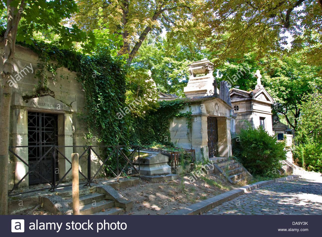 France,Ile de France,Paris,Pere Lachaise cemetery - Stock Image