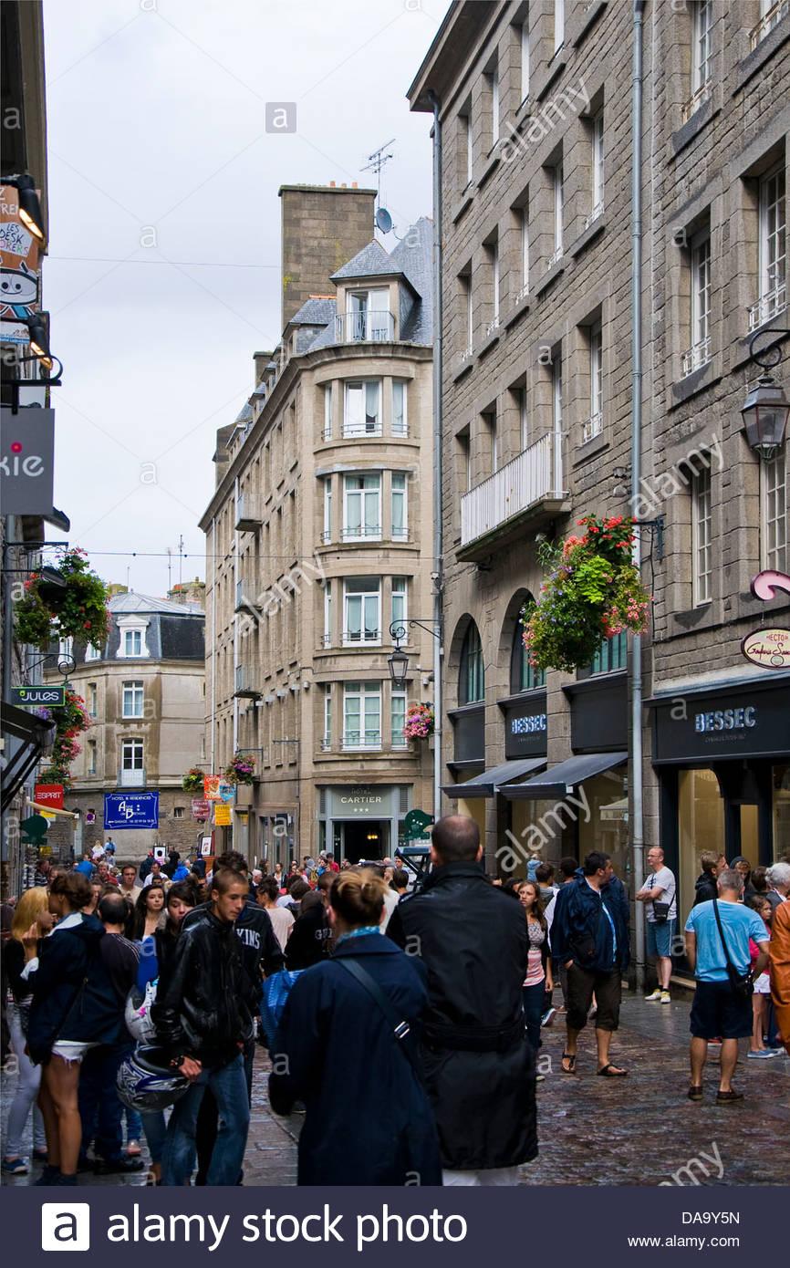France,Bretagne,Saint Malo - Stock Image