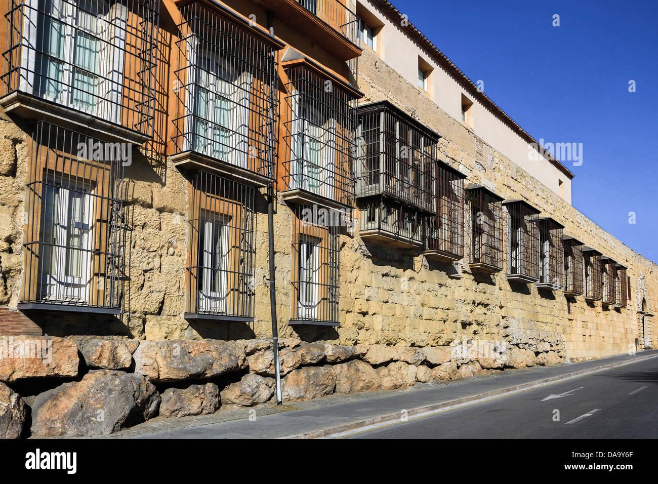 Spain, Europe, Catalonia, big, history, Iberia, Iberian, old Drago, roman, ruins, stones, tarraco, Tarragona, unesco, - Stock Image