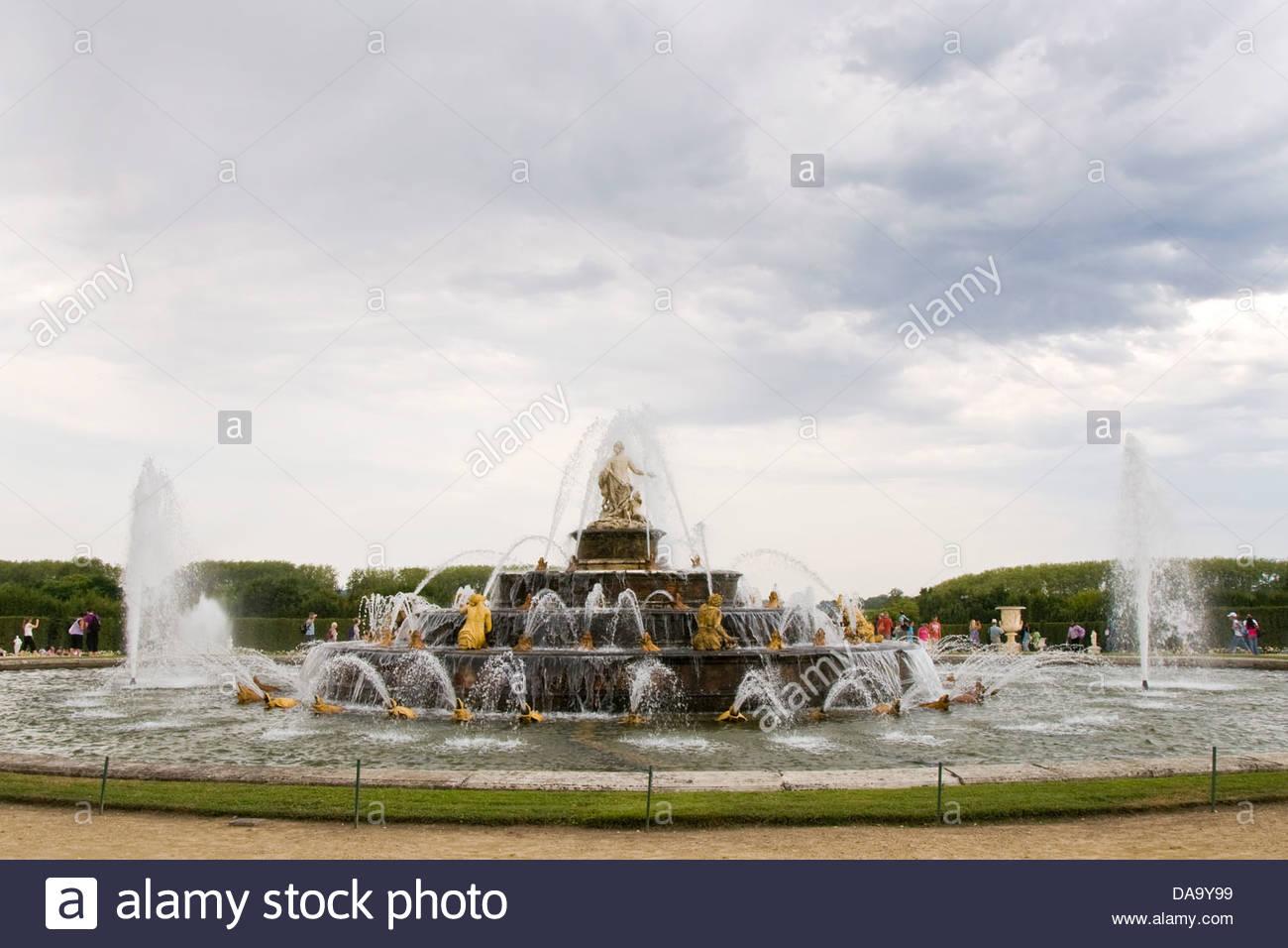 versailles palace,ile de france,france - Stock Image