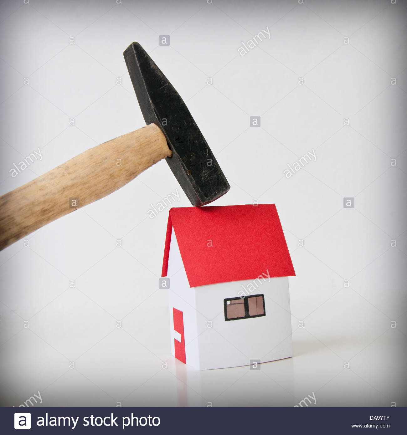 hammer and home,property taxes - Stock Image