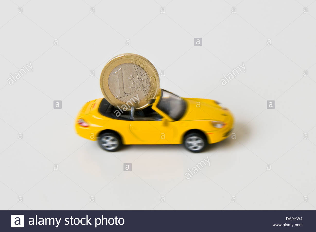money and car,transport costs - Stock Image
