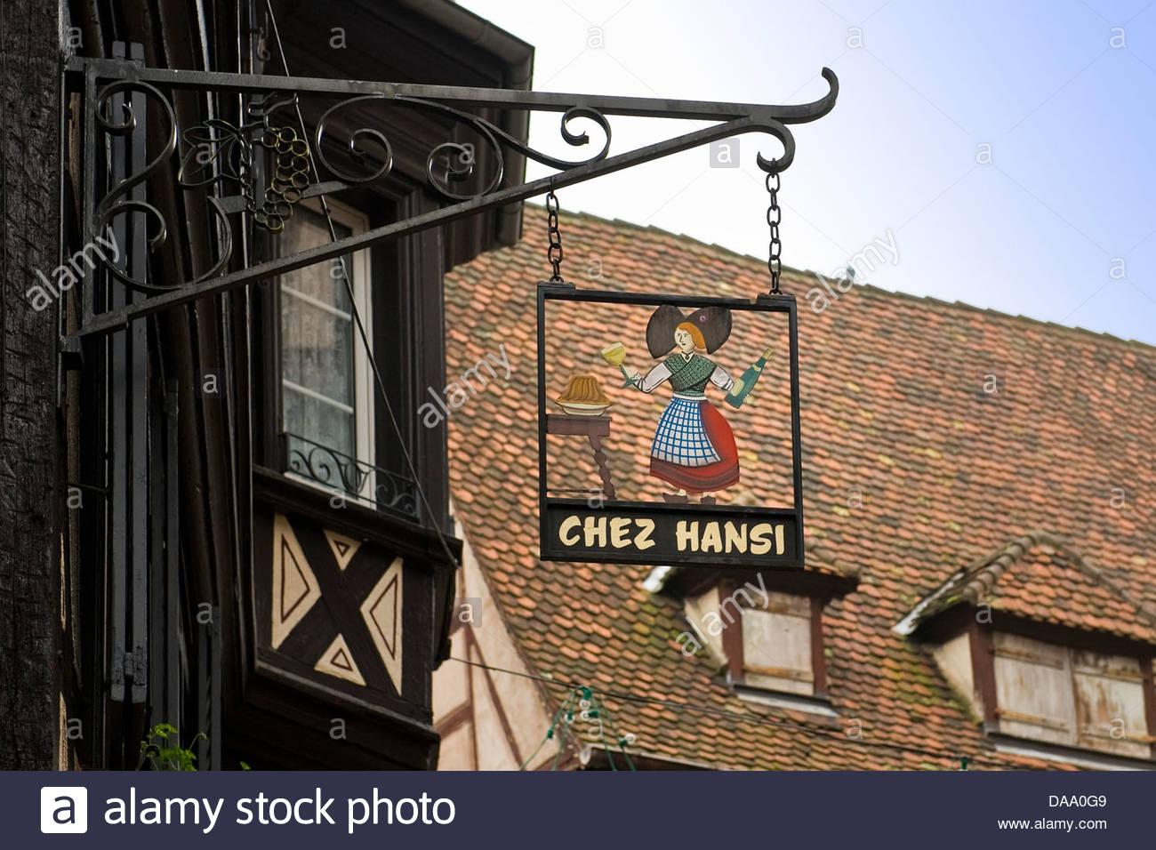 France,Alsace,Colmar,Chez Hansi - Stock Image