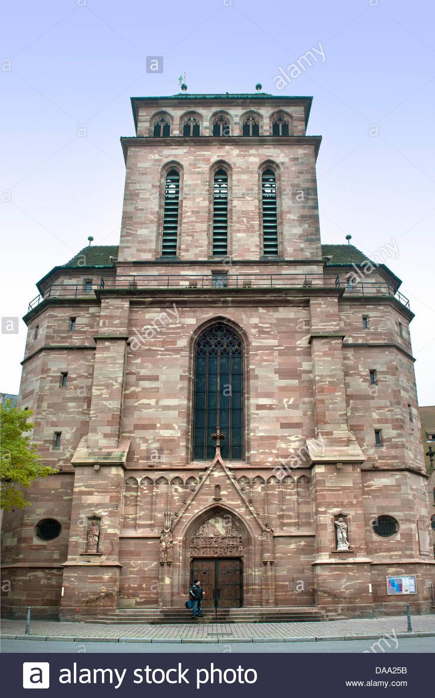 France,Alsace,Strasbourg,Saint Pierre le vieux church - Stock Image