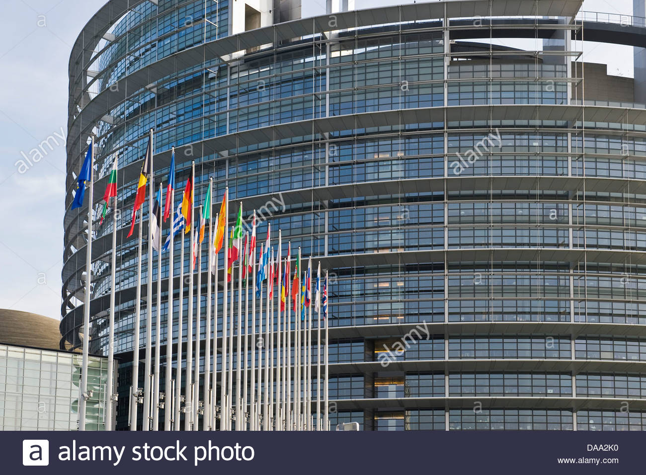 France,Alsace,Strasbourg,European Parliament building - Stock Image
