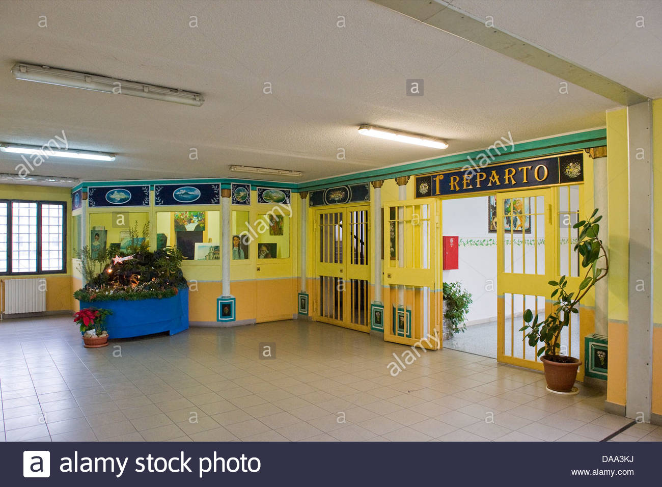First ward,bollate penitentiary,italy - Stock Image