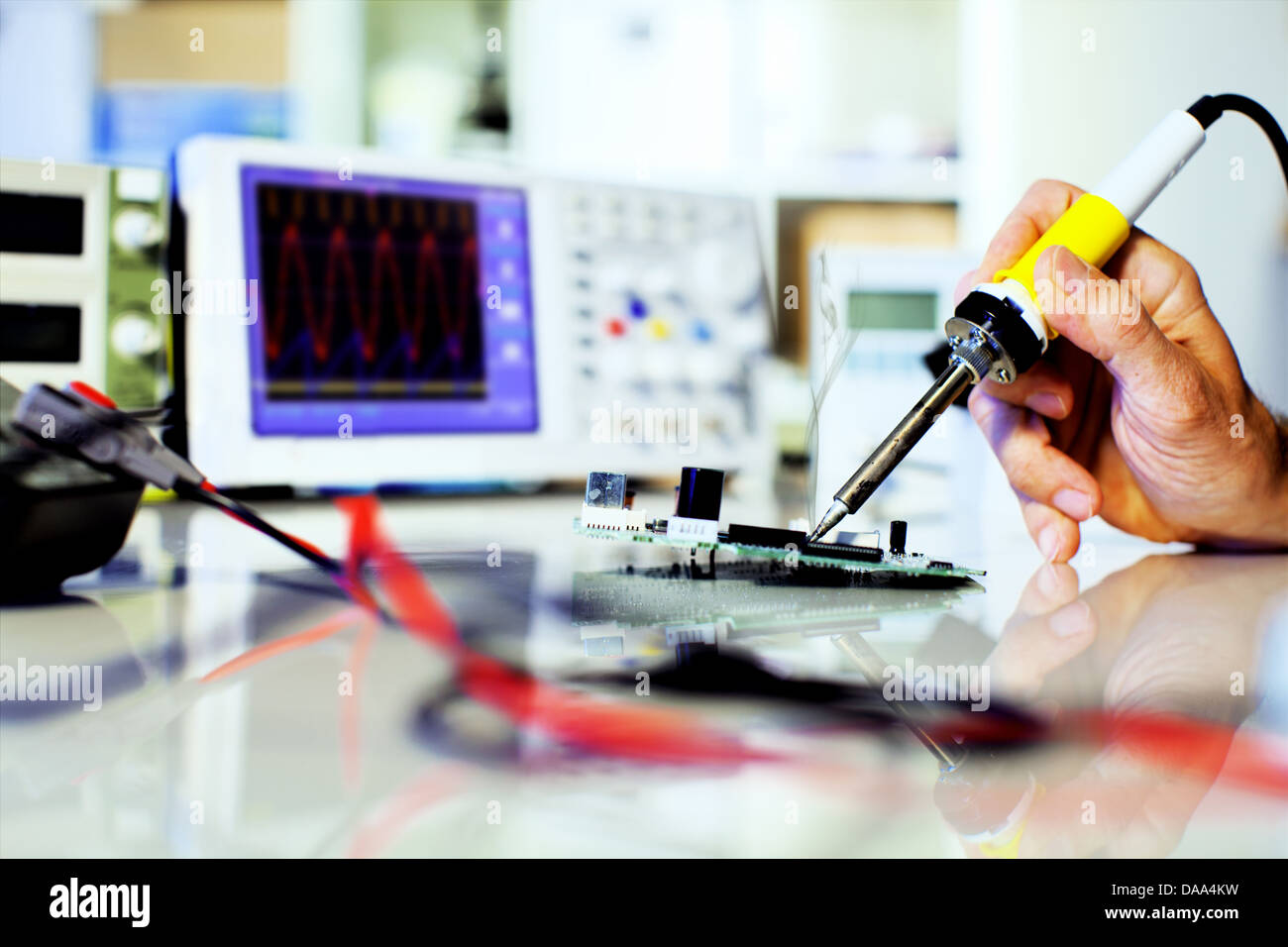 Circuit Board Parts Stock Photos Images Soldering Electronic On A Printed Image