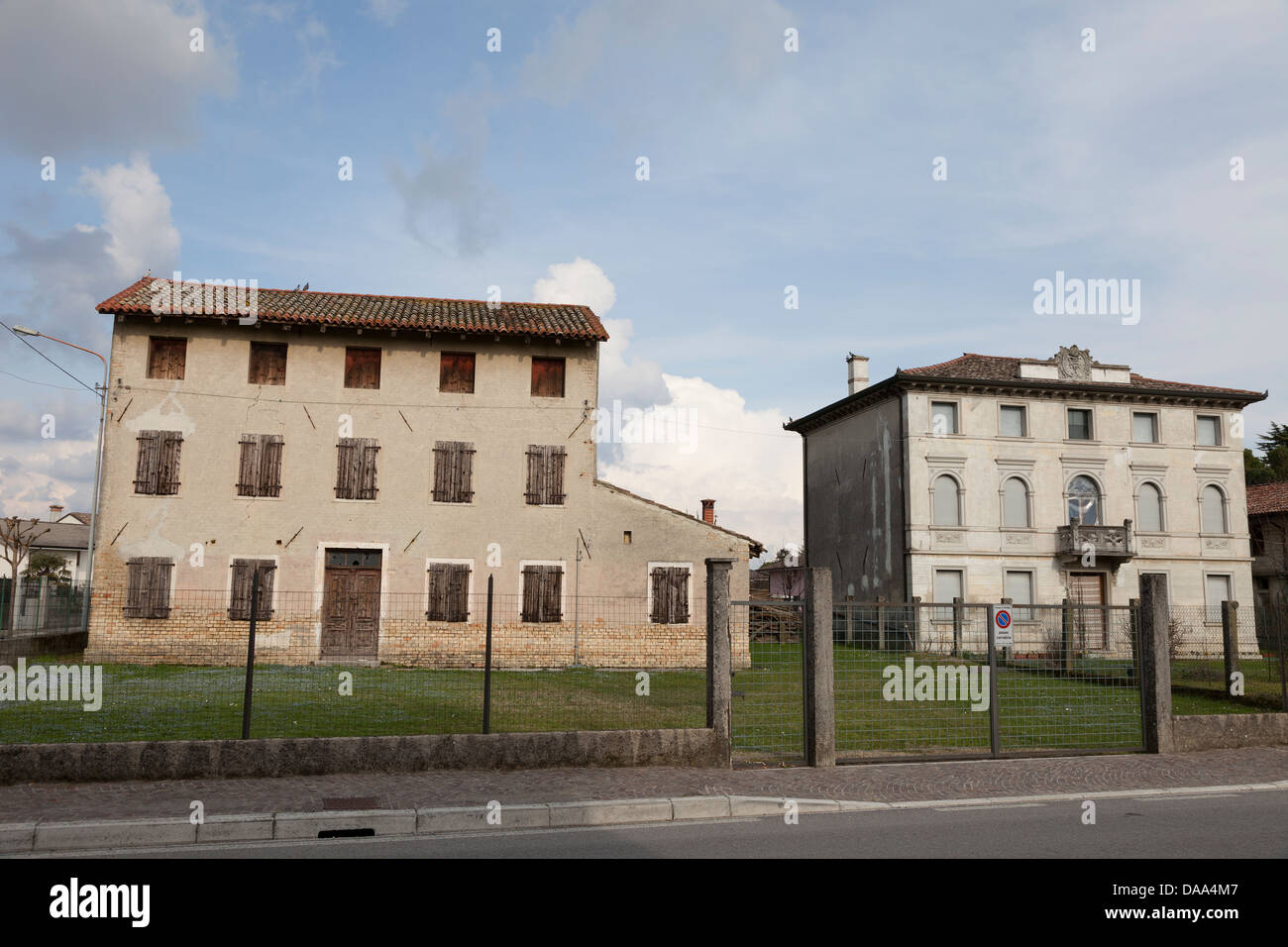 Manor houses, Pocenia,Friuli,Italy Stock Photo