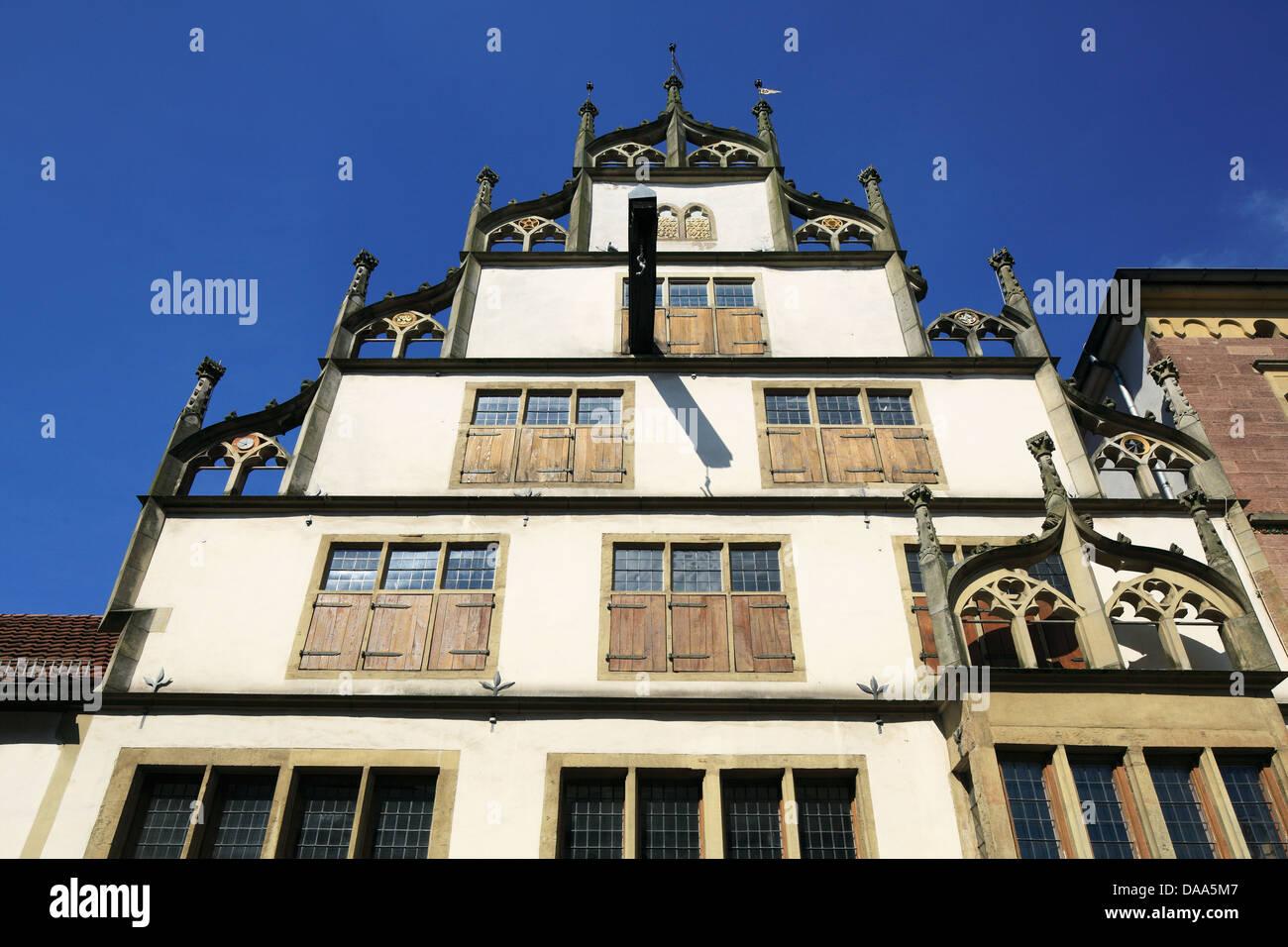 Wippermannsches Haus in der Kramerstrasse von Lemgo, Weserbergland, Nordrhein-Westfalen - Stock Image
