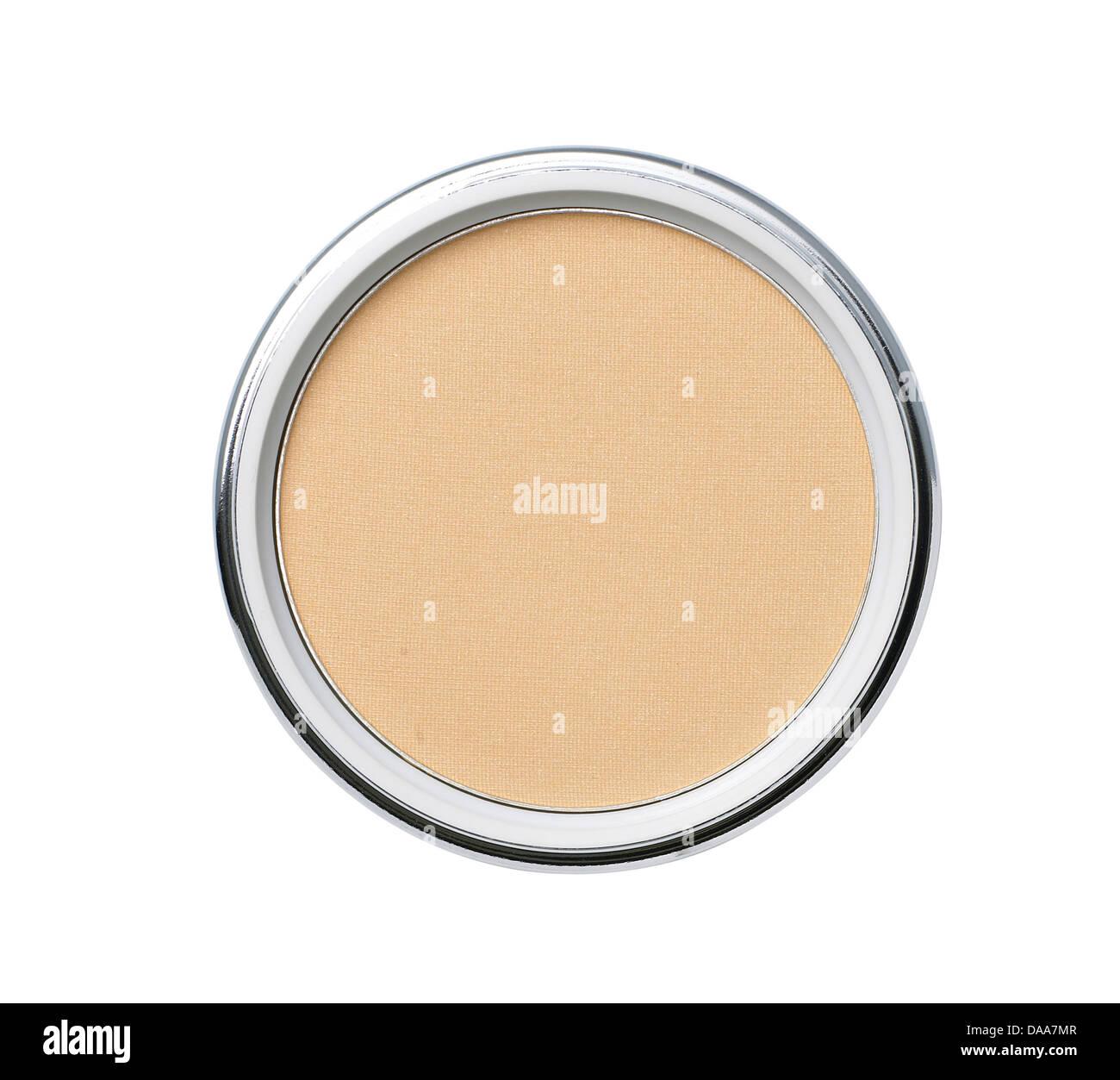 Dark Brown Bronzer Self Tan Cream Foundation Cut Out Onto A