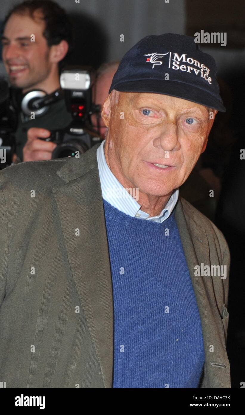 A file picture dated 22 January 2011 shows former race driving professional Niki Lauda in Going, Austria. Lauda - Stock Image