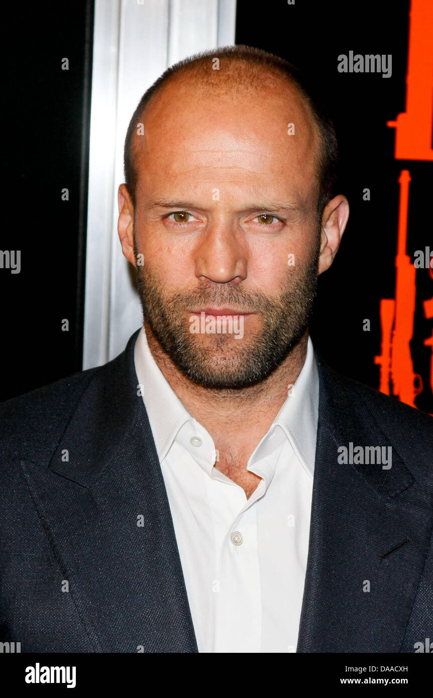 "Actor Jason Statham arrives at the premiere of ""The Mechanic"" at Arclight Cinemas in Los Angeles, USA, on 25 January Stock Photo"